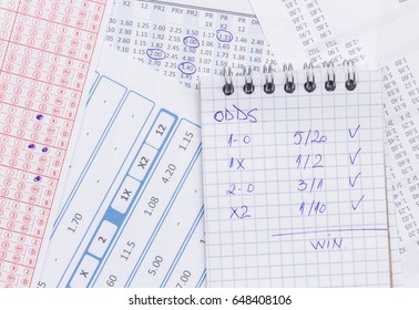 List of odds for betting