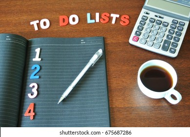 List of tasks to do