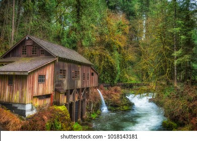 Listed on the national Register of Historic Places, Cedar Creek Grist Mill is a water-powered mill.  It was built in 1876 and has been structurally restored to it's current condition.