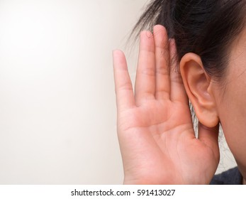 Listening and hearing concept