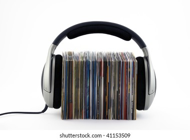 Listening to music concept