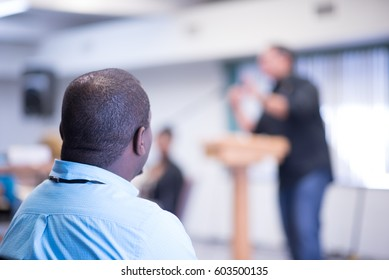 Listening to a sermon in church/Listening to Sermon