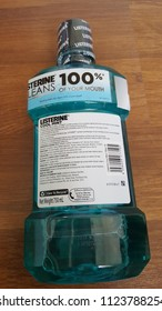 Listerine Mouthwash Container : Kuala Lumpur, Malaysia - June 30, 2018