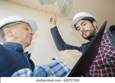 listing the areas of defects in the building