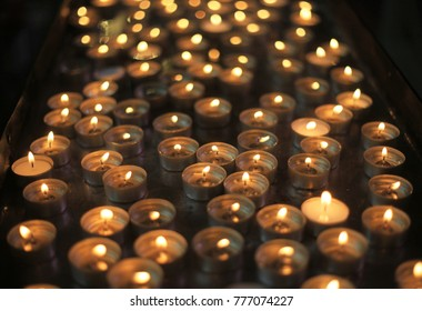 lit church candels