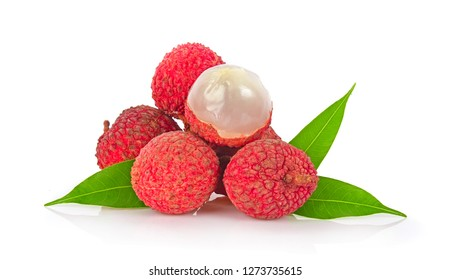 Litchi isolated on white backgorund