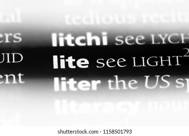 lite word in a dictionary. lite concept.