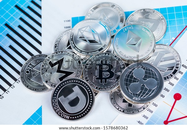 Litecoin, etherium,bitcoin virtual currency background