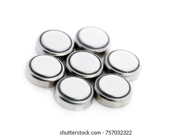 Lithium batteries isolated on white