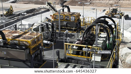 Lithium Mine Processing Plant Western Australia. Mechanical processing used to refine lithium spodumene concentrate.