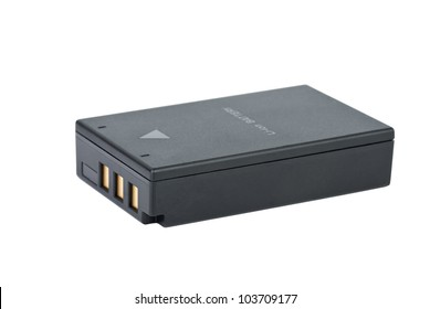 Lithium-ion battery isolated on the white background