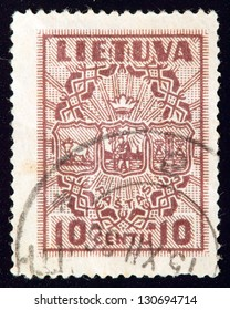 LITHUANIA - CIRCA 1934: stamp printed by Lithuania and shows country live, circa 1934