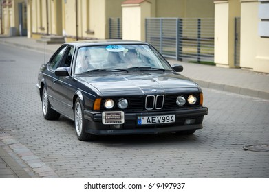 LITHUANIA, KEDAINIAI - JUNE 20, 2015: BMW 635 CSi (E24) car on the street. The BMW E24 is the first generation of BMW 6 Series grand tourer coupes and was produced from 1976 to 1988.