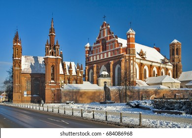 Lithuania (Lietuva) - Vilnius - St Anna's church and Bernardine monastery cathedral in old town of Vilnius, UNESCO world heritage site