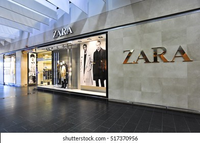 LITHUANIA - NOV 04: ZARA Store on November 04, 2016 in  Lithuania. Zara is an Spanish clothing and accessories retailer.