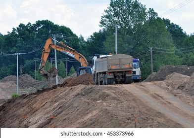 LITHUANIA-JULY 01:View of the new road construction on July 01,2016 in Lithuania.