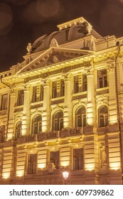 Lithuanian national philharmonic at night
