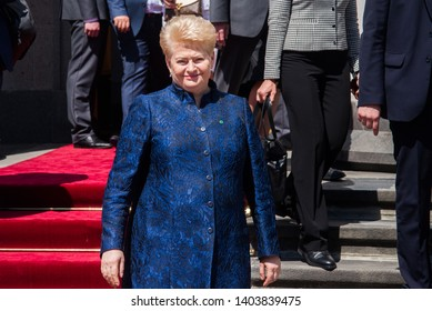 Lithuanian President, Dalia Grybauskaite, leaves Verkhovna Rada. Kiev, Ukraine May 21, 2019