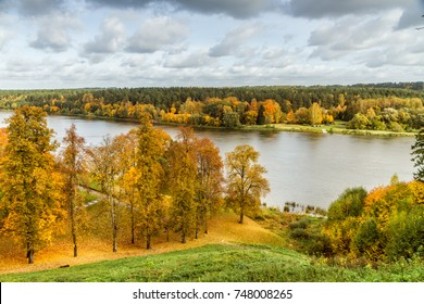 The Lithuanian resort of Birštonas during autumn, when the leaves are drying