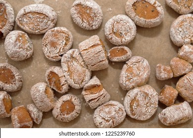 Lithuanian Traditional Christmas Eve Dish - Small, delicious sweets made of tanned pasta and poppy,kuciukai. Lithuanian Christmas Eve.