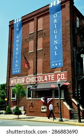 Lititz, Pennsylvania - June 9, 2015:  The famed Wilbur Chocolate Company headquarters on Route 501