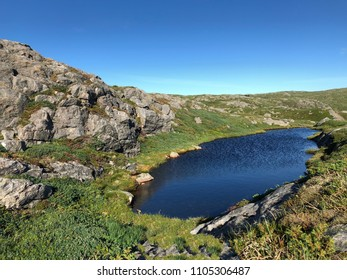 A litle pond on top of mountain near Bergen city in Norway