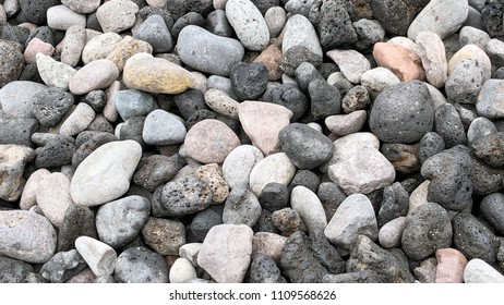 Litle stones on the beach for background