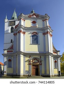 Litomerice - Church of All Saints. Litomerice is a historic city at the confluence of the Elbe and Ohre river in Northern Bohemia (Usti nad Labem Region)