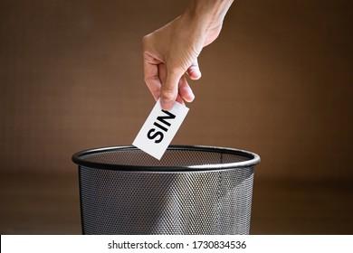 Litter or throw a piece of paper written
