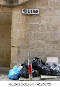 littering forbidden on Malta island