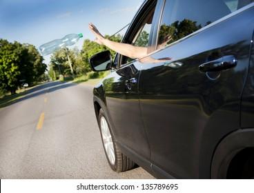 Littering the roads