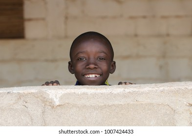 Little African Adorable Boy Smiling with Copy Space Background