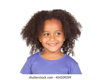 Little african girl with four years with a beautiful expression