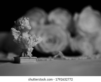 Little angel figure on a table