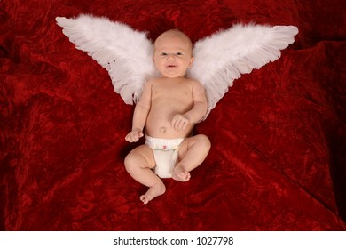 Little Angel on Red