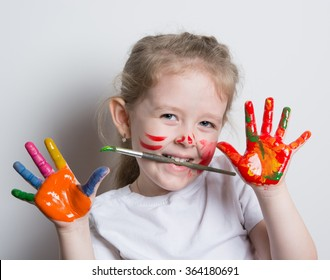 little the artist plays with colors