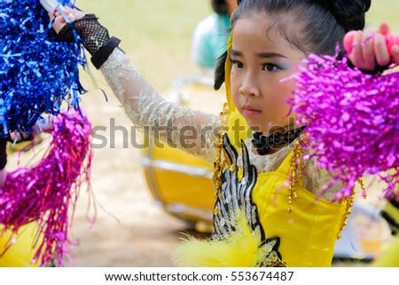 Asian girl cheerleader join