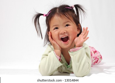 little asian girl with a smile