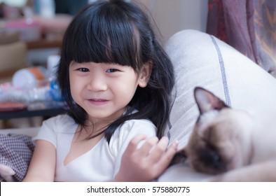little Asian girl smiling
