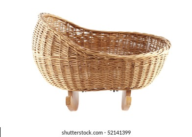 Little baby basket isolated on white