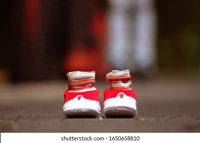 little baby beautiful shoes background