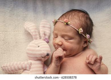 little baby & little bunny