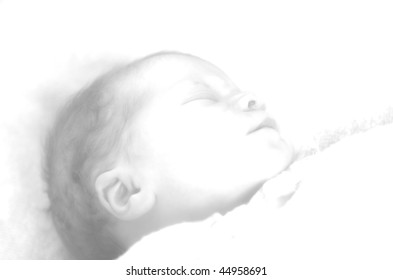 Little baby drawing
