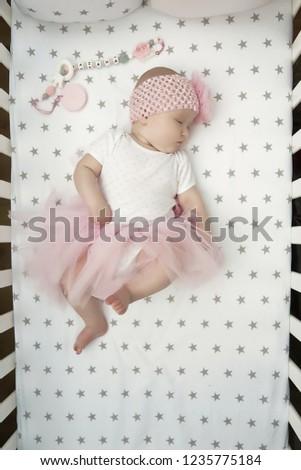 66936175c Little Baby Girl Beautiful Dress Newborn Stock Photo (Edit Now ...