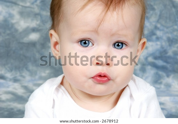 Little Baby Girl Closeup of Face