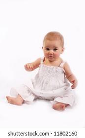 Little baby girl portrait