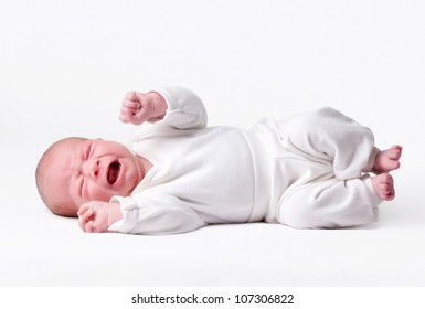 little baby isolated on a white background