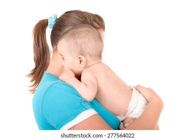 little baby isolated in white background