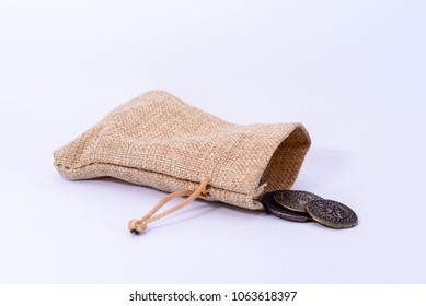 A little bag with old coins