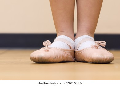 Little Ballerina Feet with Pink Ballet Slippers